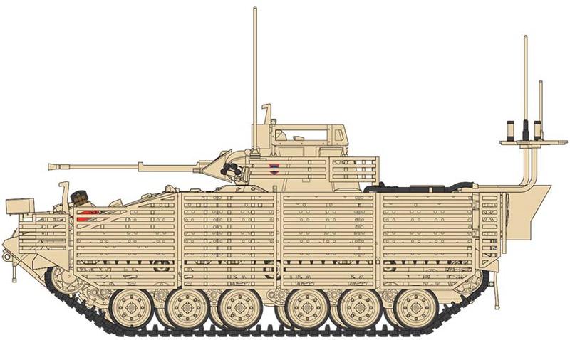 esquema bae warrior airfix